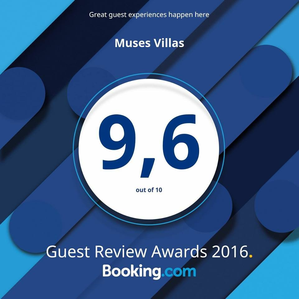 Muses Villas Booking.com rating